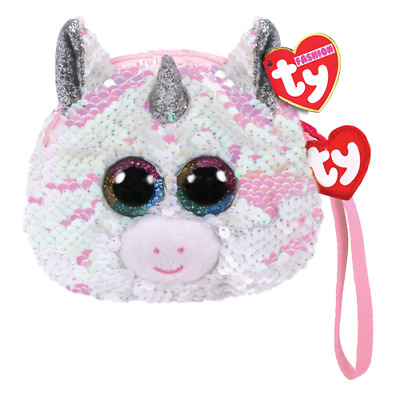 TY Beanie NEW With Tags ~ Wristlet Sequin Purse Diamond The Unicorn • 6.99£