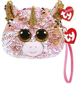 TY Beanie NEW With Tags ~ Wristlet Sequin Purse Fantasia The Unicorn • 6.99£