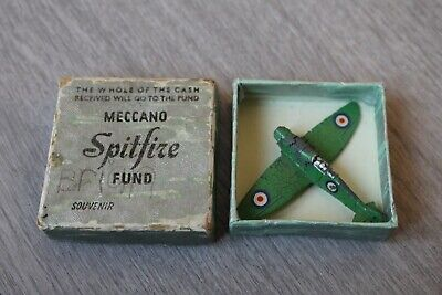 Dinky 62a Spitfire Fund Model Meccano Airplane Green With Box Aeroplane • 199.99£