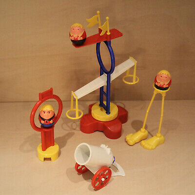 Airfix Weebles Daredevils Circus Canon Balance Figures Vintage 1970s Toy Playset • 19.99£