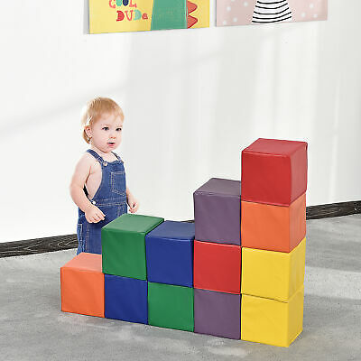 12 PCs Soft Play Blocks Soft Foam Toy Building And Stacking Blocks For Kids • 46.99£