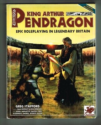 King Arthur Pendragon #2016 Chaosium Role-Playing Legendary Britain - Incls Map • 22.49£