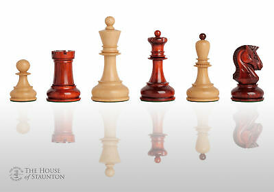The Dubrovnik Luxury Chess Set - Pieces Only - 3.75  King - Blood Rosewood • 354.93£