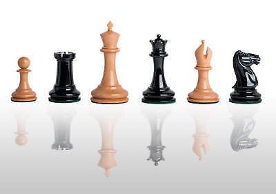 The Cooke Luxury Chess Set - Pieces Only - 3.625  King - Genuine Ebony • 394.46£