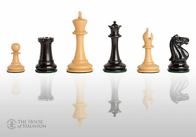 The Leeds Luxury Chess Set - Pieces Only - 3.75  King - Genuine Ebony • 312.25£