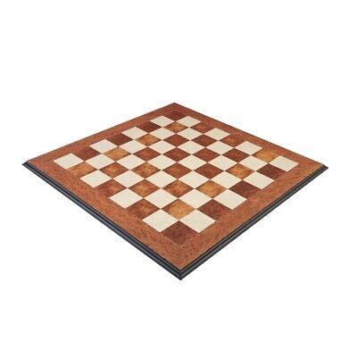 Elm Burl Superior Traditional Chess Board - 2.375  • 307.50£