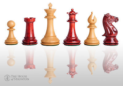 The Isernia Luxury Chess Set - Pieces Only - 4.4  King - Blood Rosewood • 422.92£