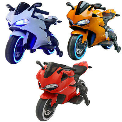 Kids 12V Battery Electric Racing Motorbike Ride On Motorcycle Outdoor Toys Bike • 109£