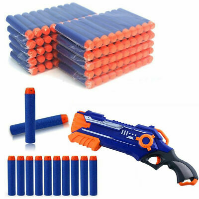 100PCS Refill Soft Bullet Darts Round Head For NERF N-STRIKE Toy Gun Funs • 7.89£