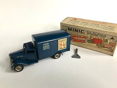 Triang Minic 81M Delivery Van LNER Blue With Lovely Original Box + Key Tinplate • 50£