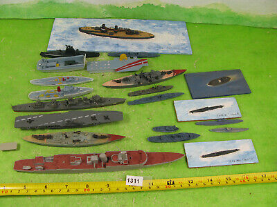 Vintage Model Waterline Ships Plastic & Wood Mixed Lot Collectable Toys 1311 • 15£