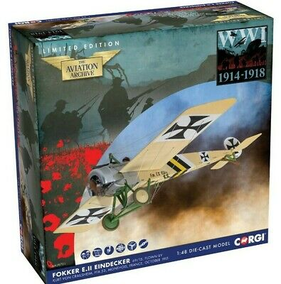 New Release Corgi 1:48th Scale Fokker E.II Eindecker WWI 1914-1918 Model. • 44.99£
