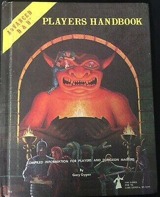 Vintage  ADVANCED DUNGEONS & DRAGONS PLAYERS HANDBOOK - AD&D Book Good Condition • 60£
