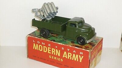 Vintage Lone Star(D.C.M.T.) BOXED Military Rocket Battery Lorry • 14£