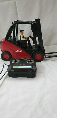 Vintage LINDE Remote Control Fork Lift Truck Battery Operated Working • 14.95£