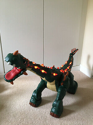 Fisher Price Imaginext Spike - Rare-Giant Remote Controlled Walking  Dinosaur • 70£