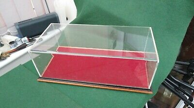 Small Wood & Perspex Display Case With Red Felt Bottom • 19.99£