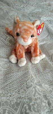 TY Beanie Babies - Amber The Ginger Cat - 1999 -Original Rare - Mint With Tags • 1£