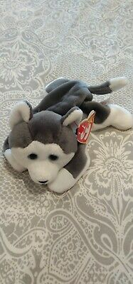 TY Beanie Babies - Nanook The Husky Dog-Great Condition With Tags -retired Rare • 1£