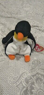 TY Beanie Babies - Waddle The Penguin - Original Retired - Rare - VGC With Tags • 0.99£