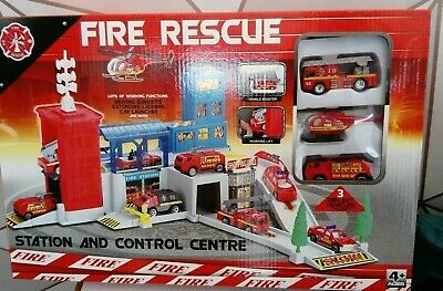 Fire Station And Vehicle Playset Childrens Fire Engine Play Set Toy NEW  • 16.50£