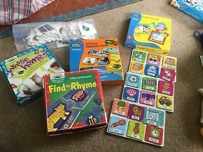 Childrens Games And Puzzle Bundle Rhyming, Alphabet And Matching Games • 6£