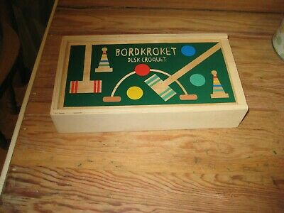 Wooden BORDKROKET - Desk Croquet - Brand New • 4£