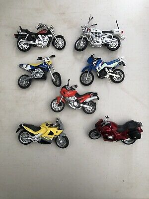 MOTORBIKE Toy Model Motorcycle Motor Bike Collection Job Lot Of 7 • 6.50£