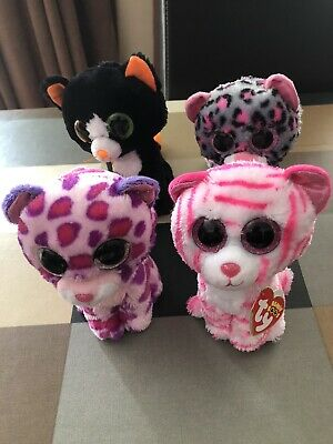 TY Beanie Boo Bundle / Job Lot X 4 Cats / Leopards Good Condition • 14£