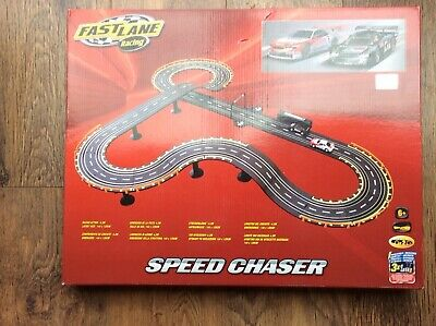 FAST LANE RACING 2 Car Set /speed Chaser Scale Track - COMPLETE SET • 16.90£