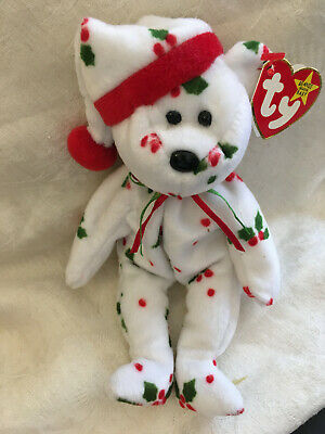 Ty Beanie Bear Retired/vintage Complete With Tag -1998 Holiday Teddy • 2.50£