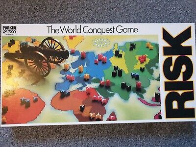 RISK The World Conquest Game (1985) PARKER Family Games [Complete] VGC • 25£