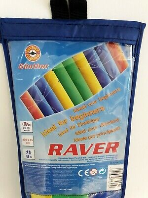 Gunthers Raver Complete Stunt Parafoil Set Dual Line Outdoor Kite For Beginners • 13.50£