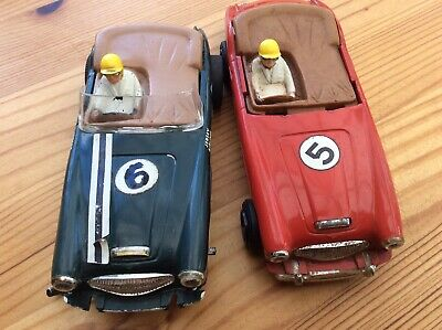 Scalextric 1960s Austin Healey 3000s Red Car And Green Body Shell • 25£