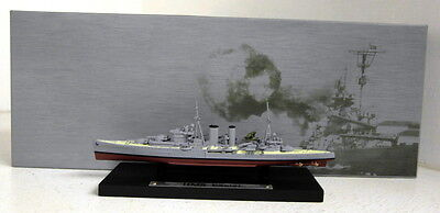 DeAgostini 1/1250 Scale Warship Collection HMS Exeter Model Ship + Plinth • 14.99£
