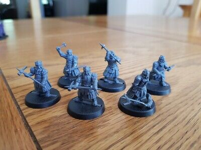 Dwarf Grim Hammers X6 - Lord Of The Rings Games Workshop Middle Earth Strategy • 4.20£