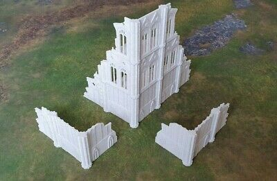 28mm Terrain Marble Ruins 1Large 2Corners Compatible/W Warhammer 40k 9th Edition • 40£