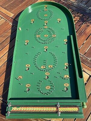 Vintage 1960s Chad Valley Works Bagatelle Board Game Ball Bearings & Score Board • 69.95£