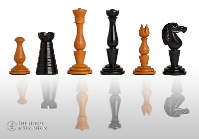 The Strand Luxury Chess Set - Pieces Only - 4.4  King - Genuine Ebony • 555.22£