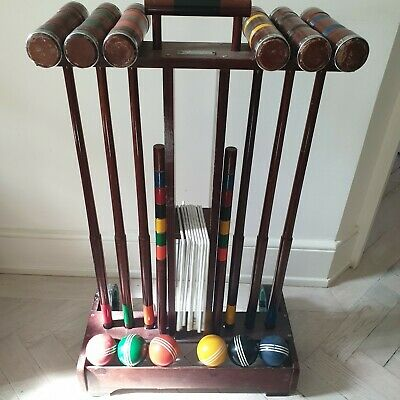 Croquet Set Adult Beautiful Wooden Set With Stand • 225£
