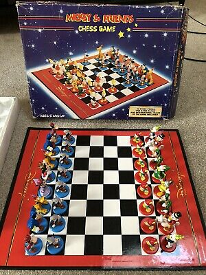 Vintage Disney Mickey Mouse & Friends Chess | Complete | Boxed | FREE Delivery • 17.55£