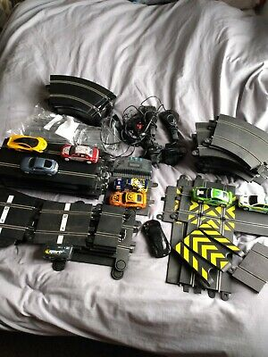 Scalextric Job Lot - 80 Pieces Of Track, 8 Cars, Controllers Etc. • 40£