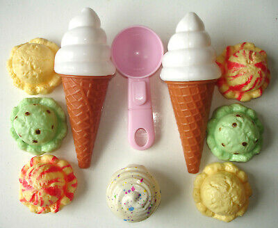 Early Learning Role Play Realistic Food Kids Preschool Ice Cream & 99' Cones • 4.75£