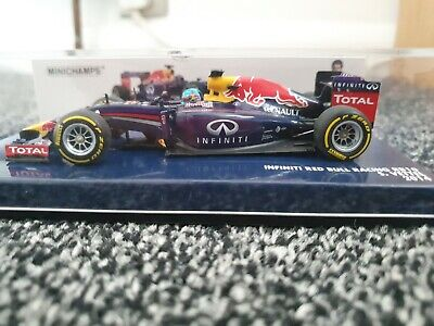 1:43 Minichamps Sebastian Vettel Red Bull RB10 2014 #410140001 - NEW • 18£