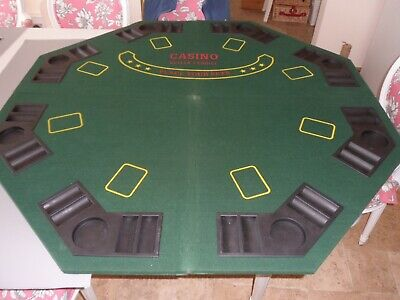 Folding Casino & Poker Table Top For 8 Players In Great Condition Green Baize • 19.99£
