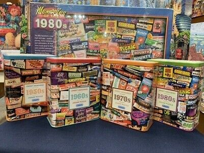 Gibsons Sweet Memories 50s 60s 70s 80s 500 Piece Puzzle In A Iconic Embossed Tin • 15.99£