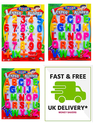 KIDS☀️ MAGNETIC Learning Toy Letters & Numbers Teaching Fridge Alphabets Magnets • 5.97£