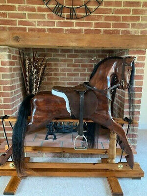 'Maisie' Large Wooden Rocking Horse 1995 Beautiful Wood  - FREE DELIVERY • 1,425£