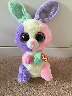 RARE And RETIRED TY Beanie Boo Easter Special - Bloom The Rabbit (39666) • 59.99£