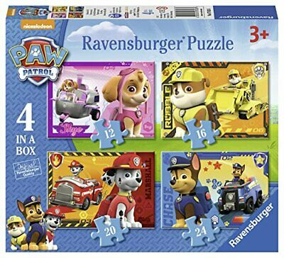 Ravensburger 7033 Paw Patrol 4 In A Box Jigsaw Puzzles - 12, 16, 20 And 24 Piec • 7.51£